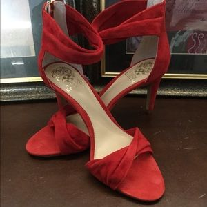 New, Red Suede, Vince Camuto Shoes. Size: 9